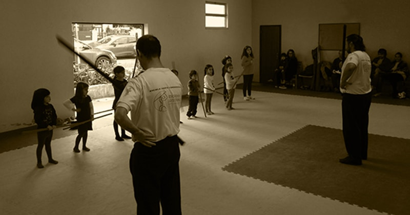 Jogo do Pau Cascais treino para crianças