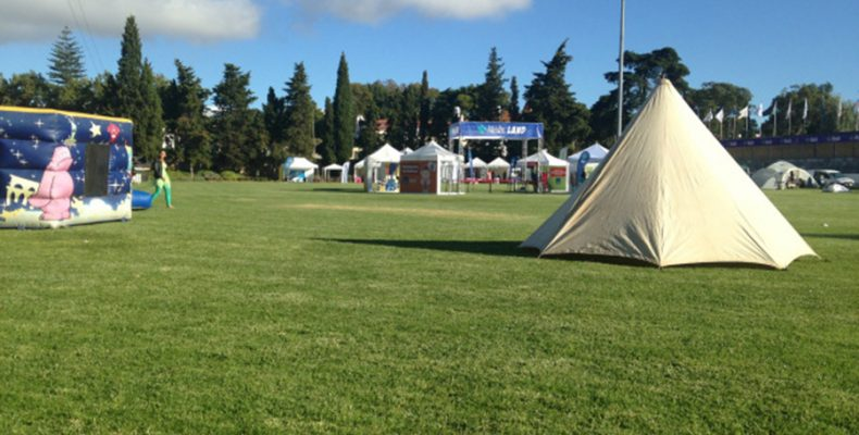 Tenda do grupo de Jogo do Pau de Cascais no Evento FamilyLand2016