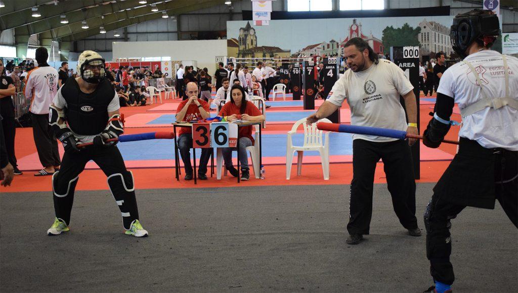 Imagem de Combate do WAC com participação do Jogo do Pau Cascais